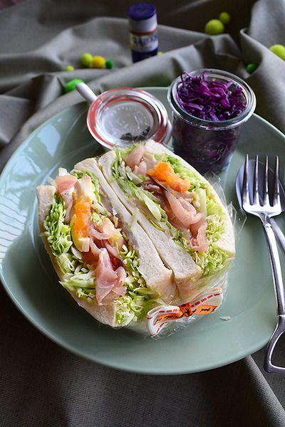 しゃきしゃきレタスと生ハムのわんぱくサンド ヘルシーでボリューミー! 旬のお野菜レシピ