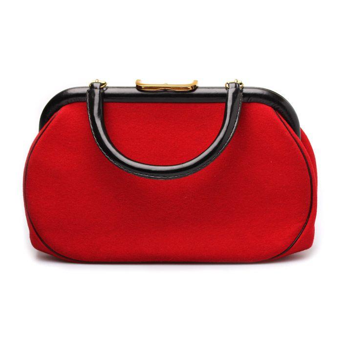 Винтажная сумка из красного войлока
