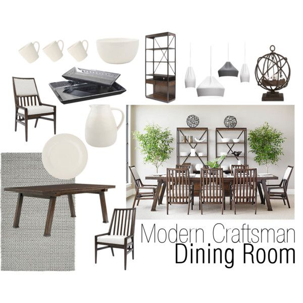 """A Modern Craftsman Dining Room"" by smartfurniture on Polyvore"