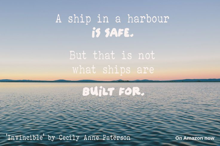 This is the quote that the book Invincible by Cecily Anne Paterson is based on. http://www.amazon.com/Invincible-Invisible-Book-Cecily-Paterson-ebook/dp/B00P8QAUO2/ref=sr_1_1?s=digital-text&ie=UTF8&qid=1416447173&sr=1-1