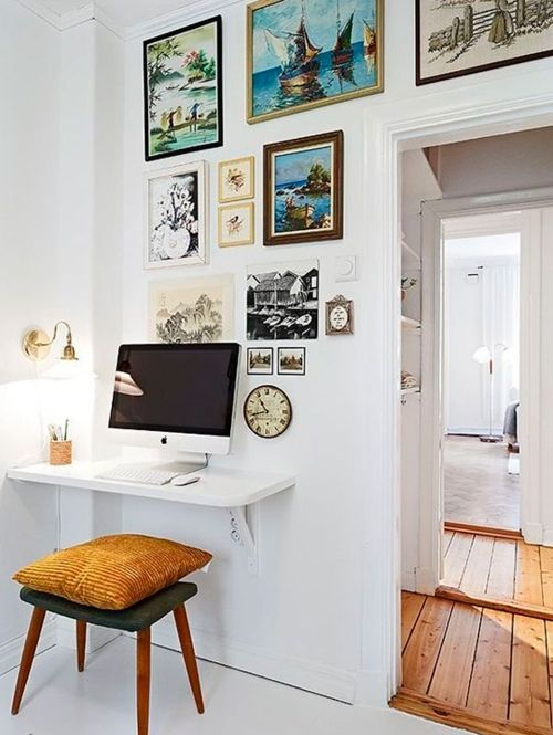 Een plank als bureau | ELLE