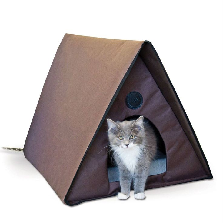 This Heated Outdoor Cat House Shelter Waterproof Weather Resistant is the…