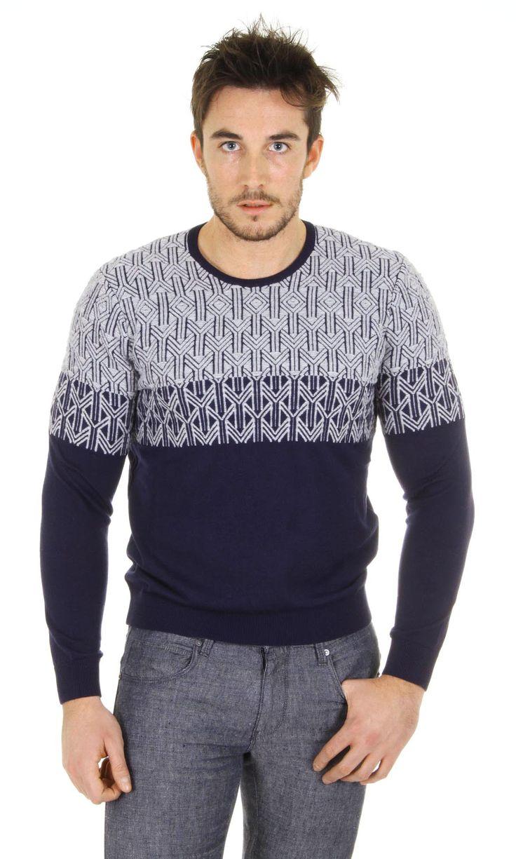 Giorgio Armani Mens Round Neck Sweater