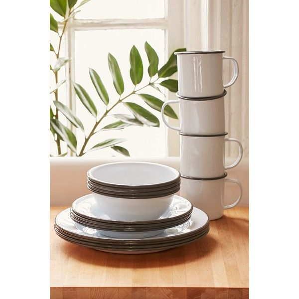 16-Piece Enamelware Starter Kit ($99) via Polyvore featuring home, kitchen & dining, grey and urban outfitters