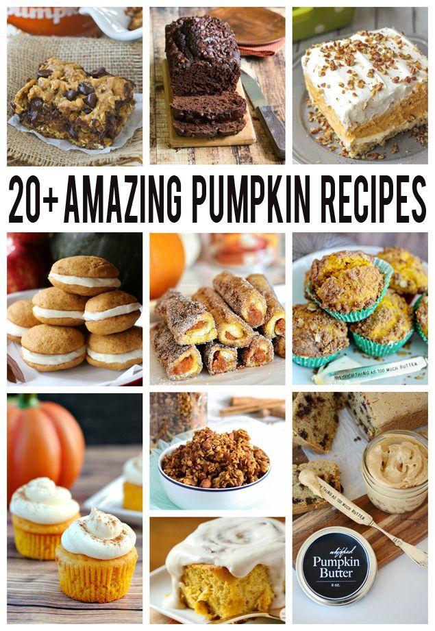 Over 20 Amazing Pumpkin Recipes