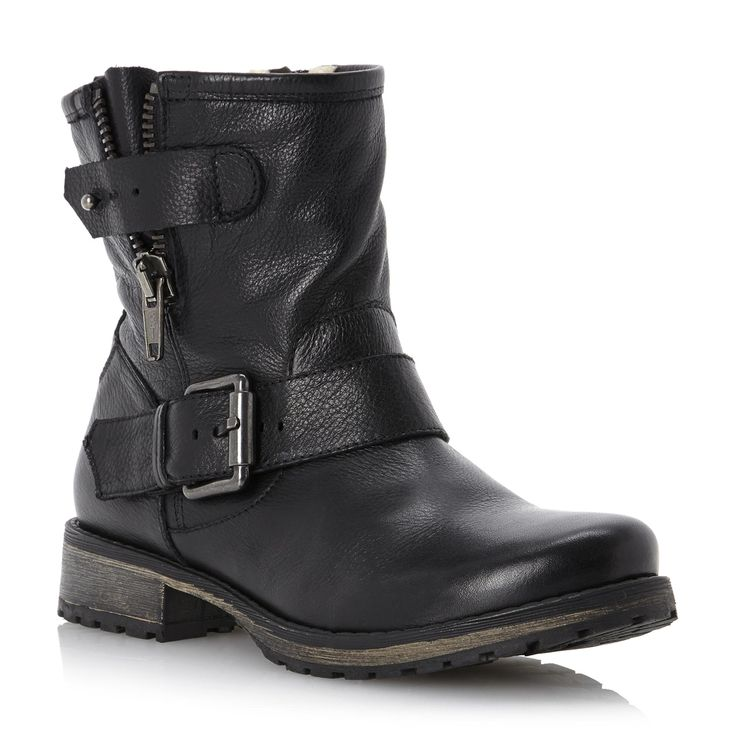 Fantastic  Designer Boots  Ash  Ash Black Leather TOKYO Womens Biker Boot