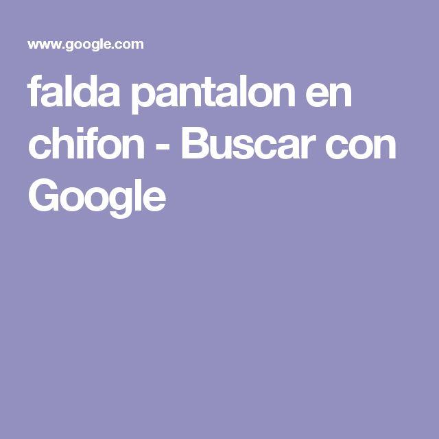 falda pantalon en chifon - Buscar con Google