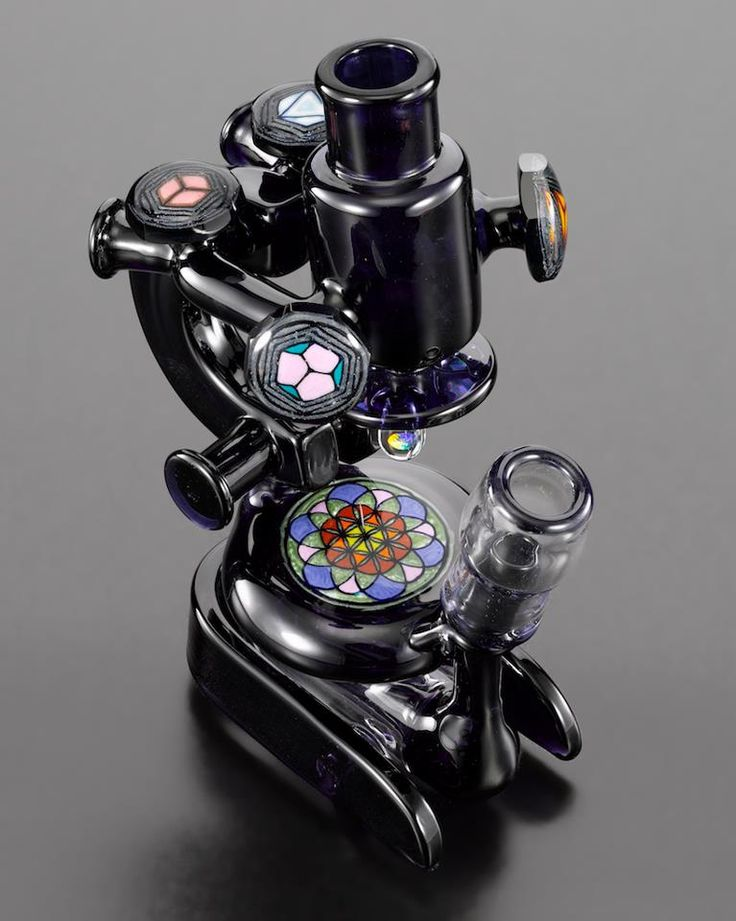 Microscope Water Pipe w Slitted Rocket Perc  18mm M