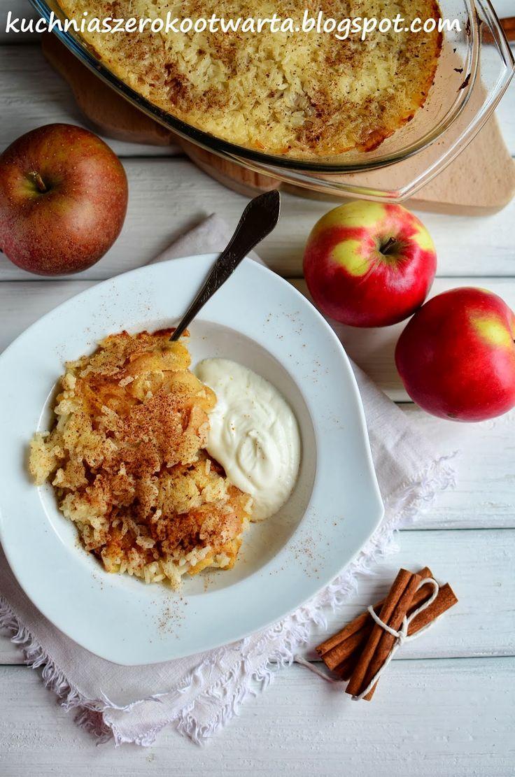 Kuchnia szeroko otwarta: Ryż zapiekany z jabłkami i cynamonem