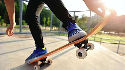 Skateboarding an upcoming sports activity
