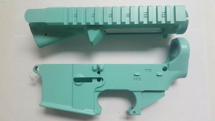 AR15 Upper Receiver and 80% Lower Receiver Set Tiffany Blue