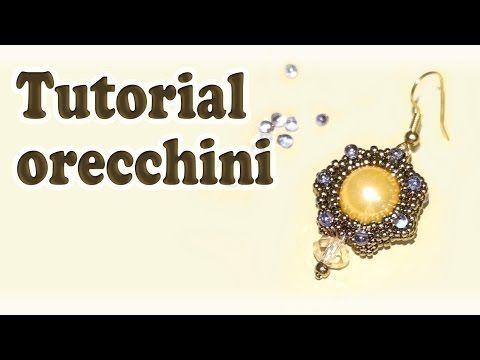 DIY Tutorial Orecchini con perline Victoria - YouTube