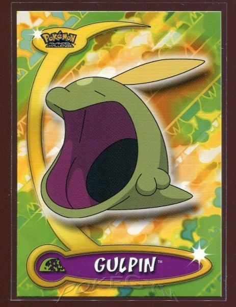 #035 Gulpin - Topps Pokemon Cards - Pokemon Advanced Challenge Trading Cards - $