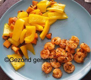 Gegrilde garnalen met groenten / Diner / Recepten   Gezondgenieten1.jouwweb.nl