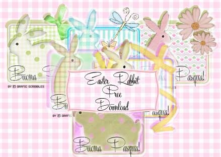 Grafic Scribbles: Easter Rabbit Free Download