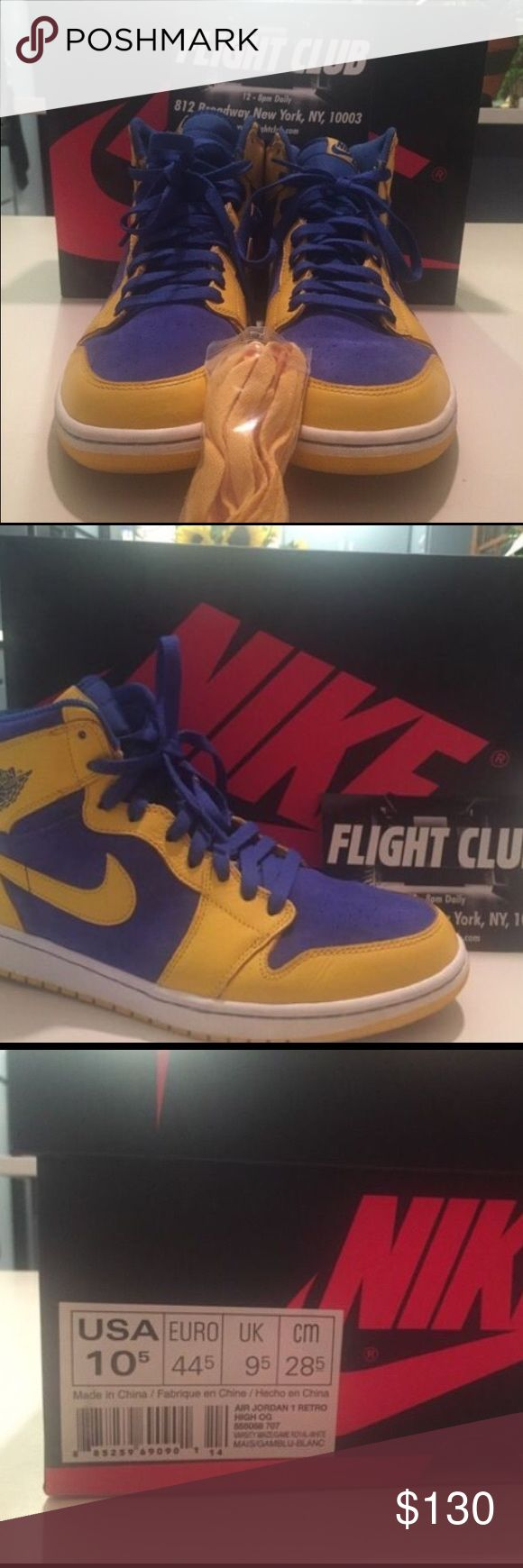 """Air Jordan Retro 1 """"Laney"""" 100% AUTHENTIC Size 10.5 100% authentic bought them on flight club for $160. I've only worn them three times it has extra yellow laces as well. Jordan Shoes Sneakers"""