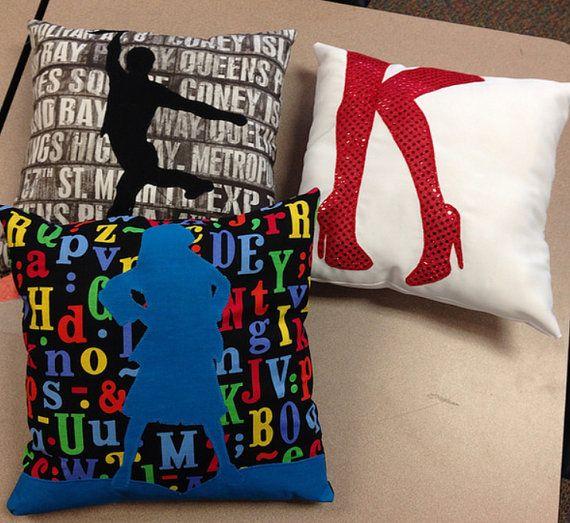 Custom Broadway Show Logo Throw Pillow by BroadwaySeamstress