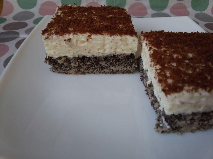 Betti gluténmentes konyhája: Mákos mascarponés sütemény