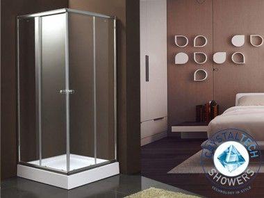 Crystal Tech - St. Marco Chrome Corner Entry Shower Enclosure CTG801
