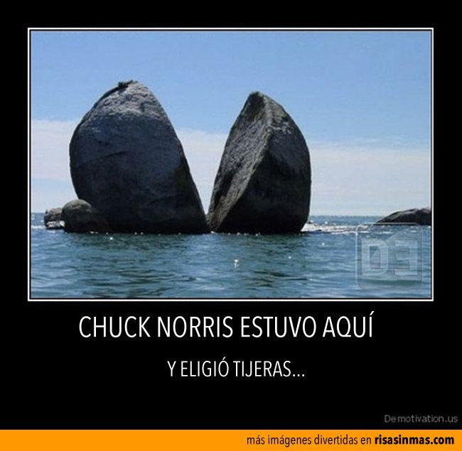 Chuck Norris estuvo aquí. Y eligió tijeras...
