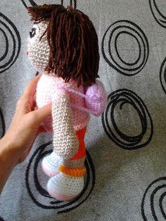 Dora Exploradora Patrón Gratis en Español http://amigurumiscuquis.blogspot.com.es/2013/10/dora-exploradora.html