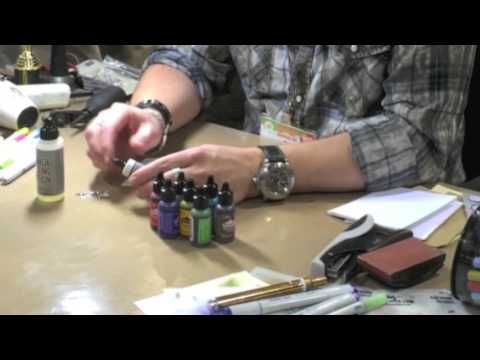 Tim Holtz How to Color With Alcohol Inks @ CHA 2014