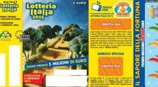 Lotteria Italia 2015: al via fino al 6 gennaio con tanti premi