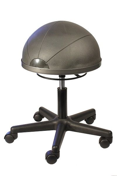 The Officino Ball Chair is the perfect hybrid between chair and sitting Ball, It can assist in toning up your core muscles whilst at work while being easily height adjustable and allowing for swivel motion while seated #seated #officino #ball #chair seated.com.au