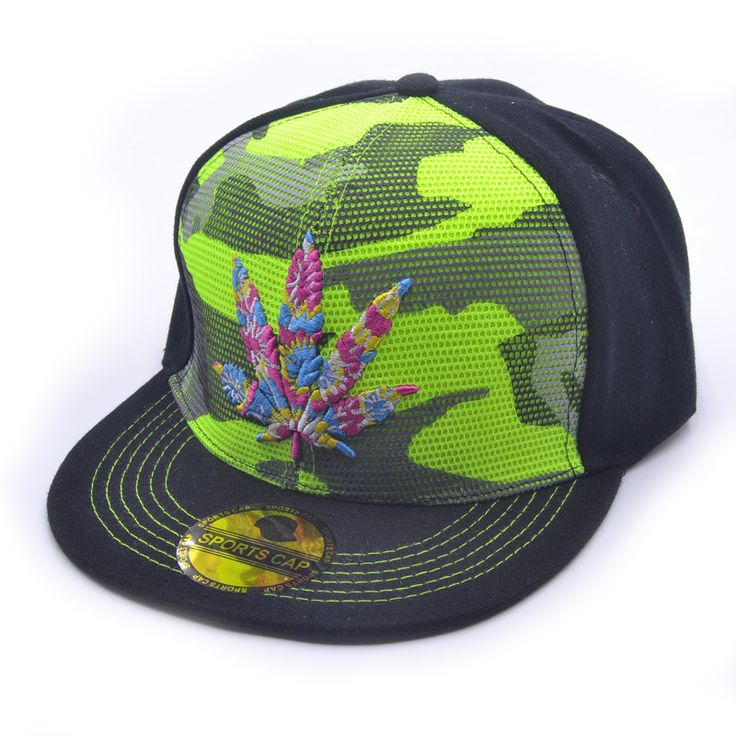 The Color Weed Leaf Men/Women Snapback Caps //Price: $19.25 & FREE Shipping //     #weed