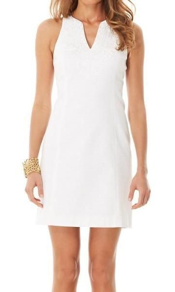 Lilly Pulitzer Gabby Shift Dress in Resort White