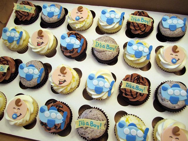 Airplane Baby Shower Cupcakes, Via Flickr.