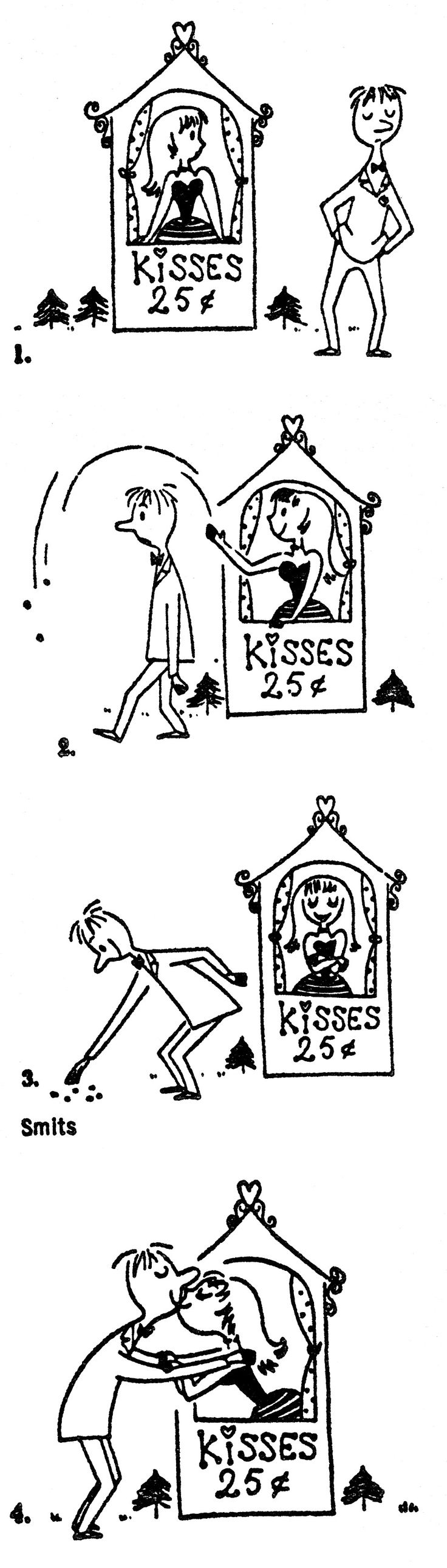 Ton Smits Kissing Booth Cartoon ♥
