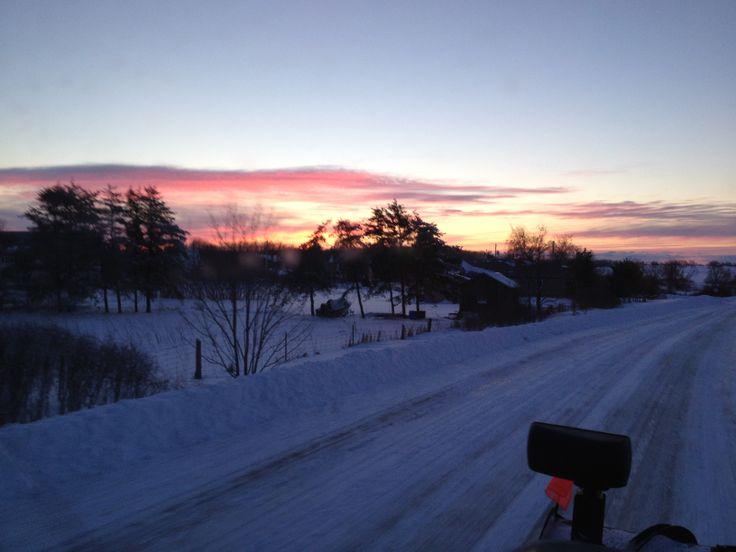 Sunrise over Cressy Lakeside.