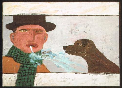 Baas en Hond. Charlotte Mutsaers. Postkaart.