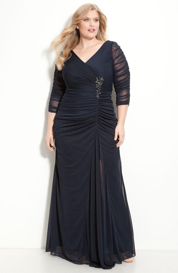 Stunning Hot Sale Plus Size Pleats Beaded A Line V Neck 3/4 Long Sleeves Zipper Chiffon Floor Length Party Prom Dresses Evening Gown Plus Size Dresses For Special Occasion Plus Size Dresses For Special Occasions Cheap From Charmingybridal, $75.43  Dhgate.Com