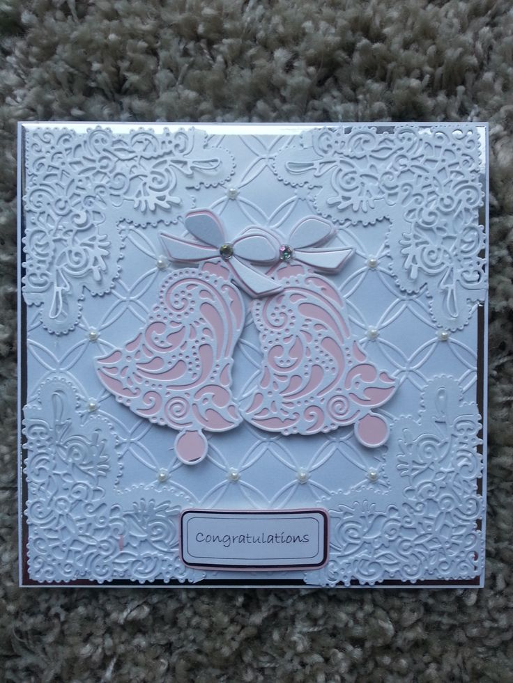 A gorgeous Tattered lace wedding card for my Father in law