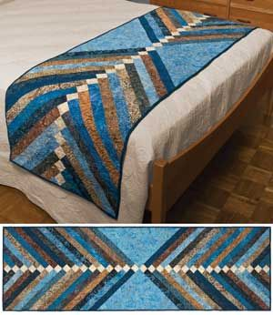 """precut 2 1/2"""" Bali strips for this 28"""" x 90"""" bed (or table) runner. Kit has Audrey Good and Cheri Maniz's piecing directions for the runner ..."""
