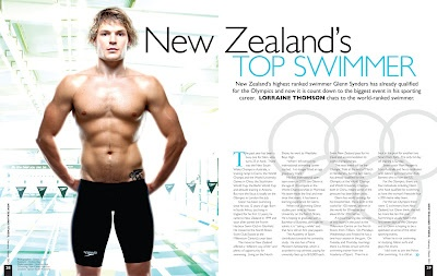 Did photoshop for this. Very pleased with the glow effect. Glenn Snyders - NZ Olympic hope by Clinton Tudor