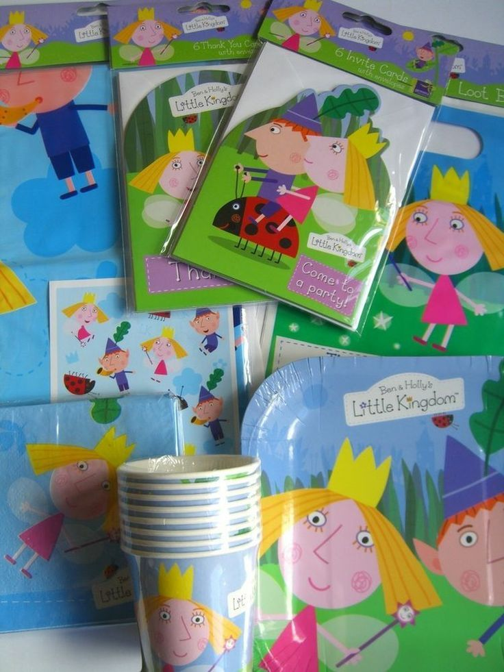 BEN & HOLLY'S LITTLE KINGDOM PARTY RANGE {fixed £1 UK p&p}