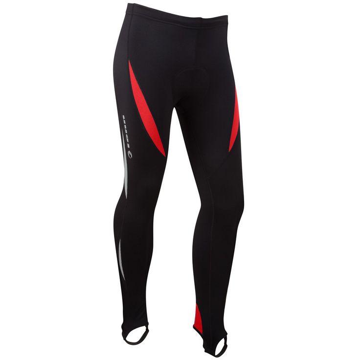 TENN OUTDOORS LAZER ocieplane spodnie rowerowe czarno-czerwone Czerwony - MikeSport.pl