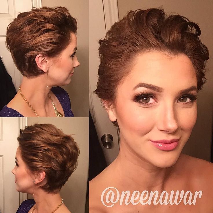 Fancy pixie styling on @neenawar ! who says you can't do anything nice with short hair??!  by nothingbutpixies