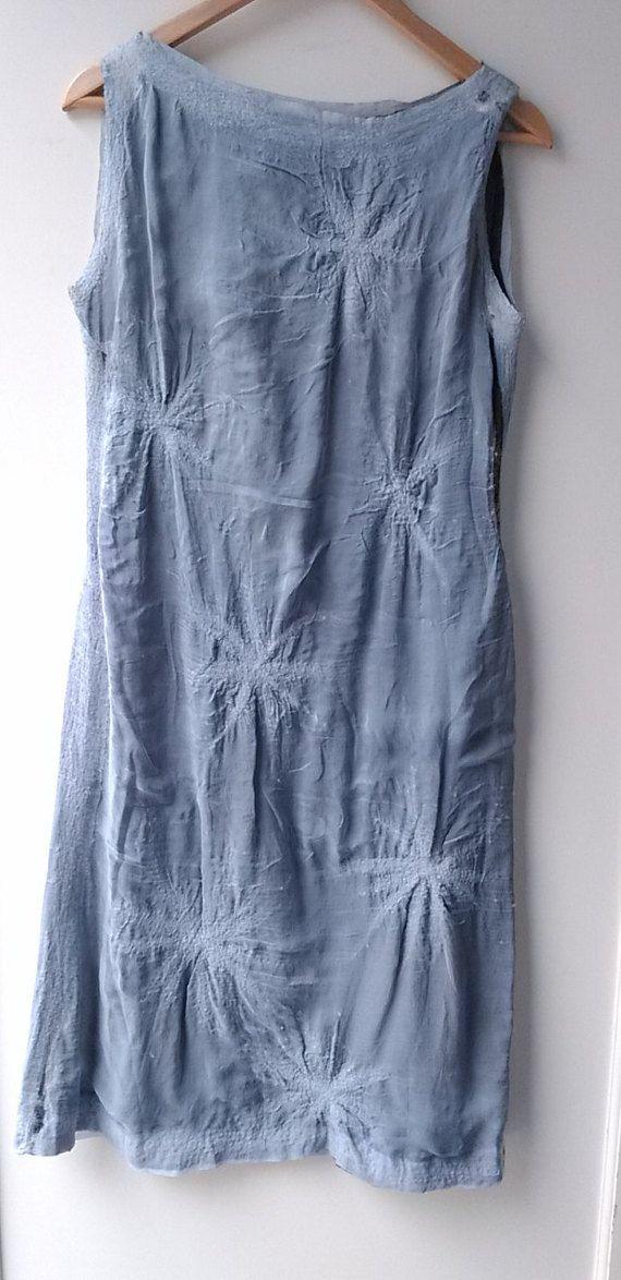 vestido de seda reversible por lacasasentida en Etsy
