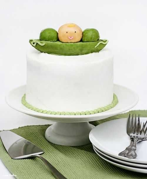 Baby Pea Shower CakeShower Ideas, Baby Peas, Baby Shower Cakes, Baby Cake, Peas Pods, Baking Recipe, Sweets Peas, Baby Boys Shower, Baby Shower