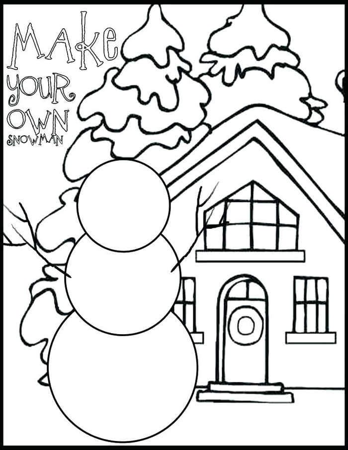 Make Your Own Snowman Coloring Page Christmas Coloring Pages Snowman Coloring Pages Coloring Pages Winter