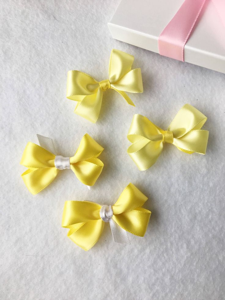 Yellow Mini Hair Clips, Yellow Hair Bows, Small Hair Bows, Small Hair Clips, Baby Bows, Hair Bow Set, Toddler Hair Bows, Girls Hair Bows by BradleyAccessories on Etsy https://www.etsy.com/listing/542427454/yellow-mini-hair-clips-yellow-hair-bows