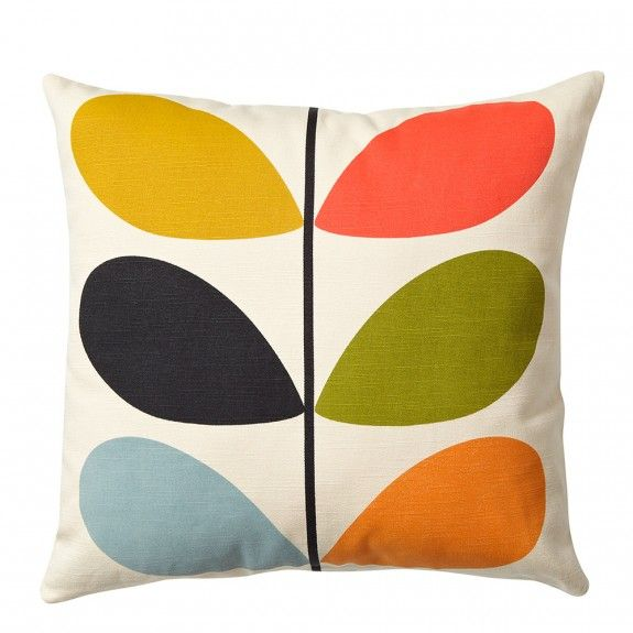 Fabulous Orla Kiely square #cushion with signature Multi Stem #pattern and zip to closure. This classic print will brighten up any sofa in any home and our designers simply love the #retro style of this home accessory.