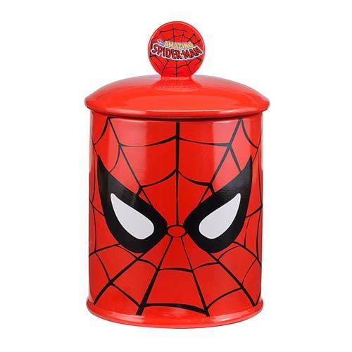 Spider-Man Face Limited Edition Ceramic Cookie Jar