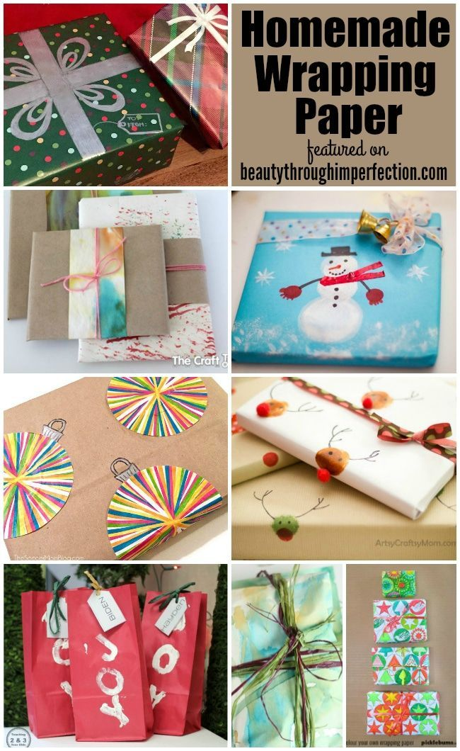 DIY wrapping paper ideas 107 best Gift