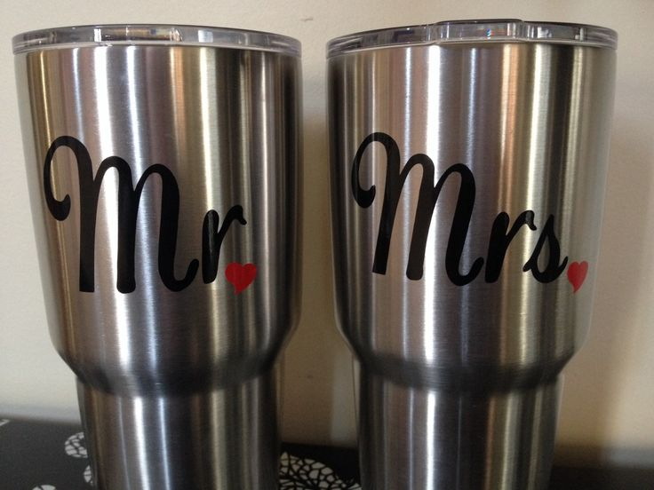 Yeti Decal, Mr and Mrs Decal, His and Hers Yeti Decal, Couples Yeti Decal by DecalsByDawn on Etsy