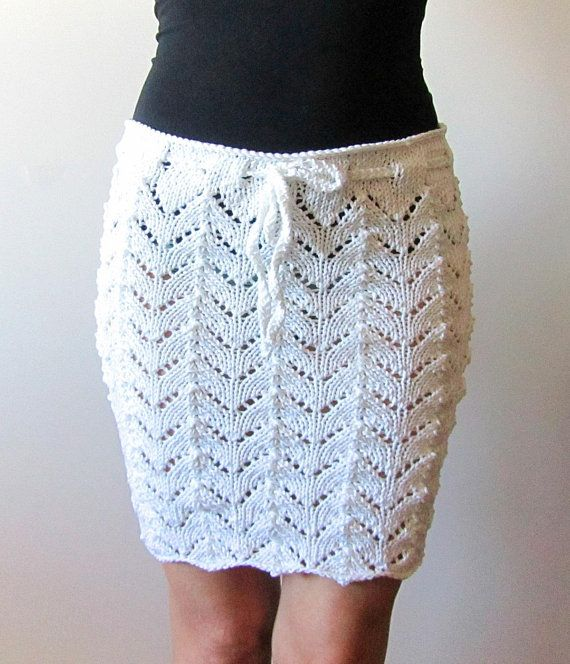 Lacy Beach Cover Up Skirt Knitting Pattern